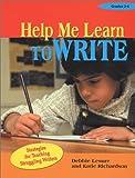 Help Me Learn to Write