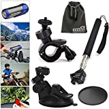 EEEKit 5-in-1 Accessories Kit for Ion Air Pro 2/3 Wi-Fi HD, Handheld Monopod Extendable Telescope Holder + Adjustable Bike Handlebar Holder + Car Sunction Cup Mount + Suction Cup Pad + EEEKit Pouch