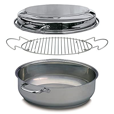 Stainless Steel Multi Roaster - Four Cookware Products in One, including Extra Large Roaster