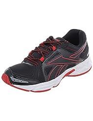 Reebok Men's Dynamic Fusion LP Black Red And White Mesh Running Shoes