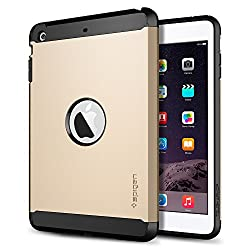SPIGEN iPad Mini Retina Case **New Release** [Tough Armor] [Champagne Gold] Air Cushion Technology Corners Protective Case with Dual Layer for iPad Mini 2 - Champagne Gold (SGP10626)