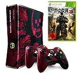 Xbox 360 - Konsole Slim 320 GB Gears of War 3 Edition inkl. 2 Controller + Gears of War 3, schwarz-rot