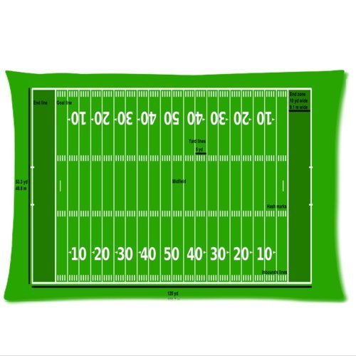 Personalized Amazing Green Football Field Pattern Zippered Pillowcases 20X30 Inches (Twin Sides )