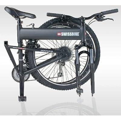 """SwissBike LX Aluminum Folding Mountain Bike (18"""" Fram) _Matt Black 51MM9lZBtiL._SS400_"""