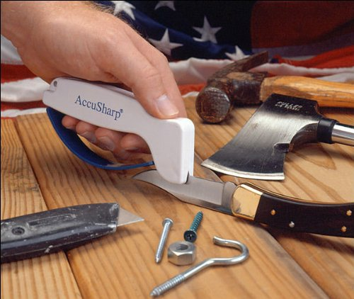 New Accusharp Rust Free White Knife And Tool Sharpener - Diamond Honed Tungsten