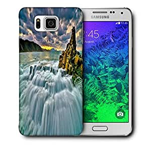 Snoogg Waterfall Nature Printed Protective Phone Back Case Cover For Samsung Galaxy SAMSUNG GALAXY ALPHA