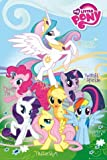 Posters: My Little Pony Poster - Fluttershy, Rainbow Dash, Rarity, Pinkie Pie, Applejack, Twilight Sparkle, Princess Celestia (36 x 24 inches)