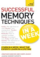 Successful Memory Techniques In A Week (TYW) (English Edition)