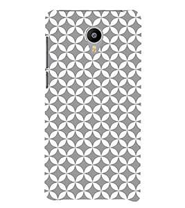 Grey Self Design 3D Hard Polycarbonate Designer Back Case Cover for Meizu M3 Note