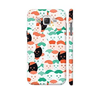 Colorpur Abstract Smiling Face Pattern Designer Mobile Phone Case Back Cover For Samsung Galaxy J2 | Artist: Designer Chennai