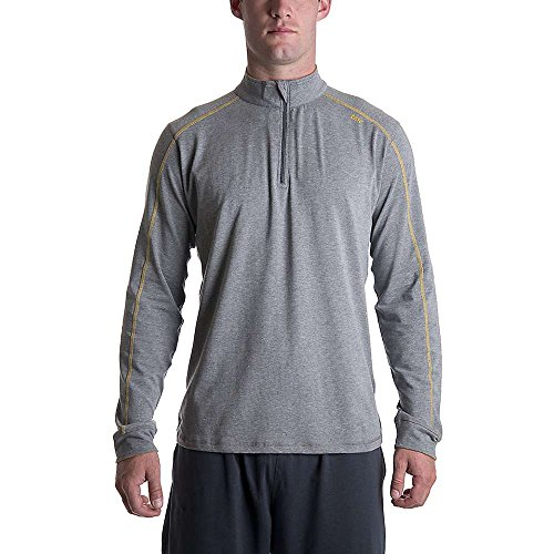 Tasc Performance Men'S Core 1/4 Zip Pullover Jacket, Heather Gray, Xx-Large front-643435