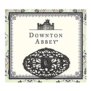 The Downton Abbey Collection Jewelry Jet Oval Lace Brooch 17583