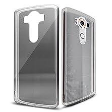 buy Lg V10 Case, Ice Armor Lg V10 Crystal Clear Gel Slim Case [Tpu Bumper Protection, Dock Cover, Ear Plug] Clear Black For Lg V10