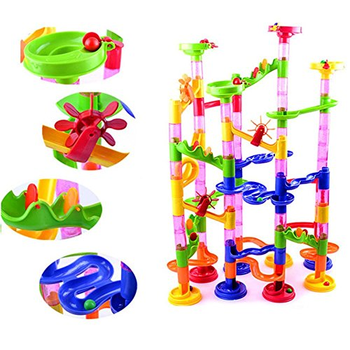 Taotown's 105pcs DIY Construction Marble Race Run Maze Balls Track plastic house Building Blocks toys for christmas 2016 Hot (Egg Vending Machine compare prices)