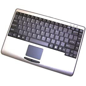 Adesso MINI SLIMTOUCH TOUCHPAD USB KEYBOARD SILVER WITH BLACK KEYS ( AKB-410US )