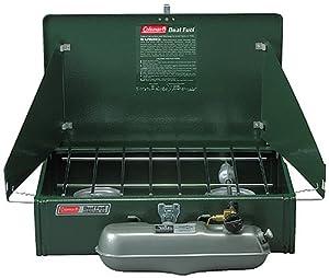 Coleman 2 Burner Dual Fuel Compact Liquid Fuel Stove by Coleman