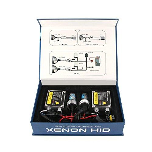 Moonmini® Error Free HID Kit 9006 8000K 35W 12V HID Xenon Headlight Conversion Kit 9006 HID Headlight Kit 9006 Set of 2 HID Xenon Bulbs Lights 9006 with 2 Slim HID Ballast 35W 9006 (Hid Headlight 8000k compare prices)
