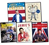 Jamie Oliver Jamie Oliver 5 Books Collection Pack Set RRP: £135.98 (Jamie's 15-Minute Meals, Jamie's Great Britain, Jamie's 30-Minute Meals, Jamie Does..., Jamie's America)