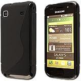 Ecence Silikon TPU Case für Samsung Galaxy S i9000/S Plus i9001 schwarz