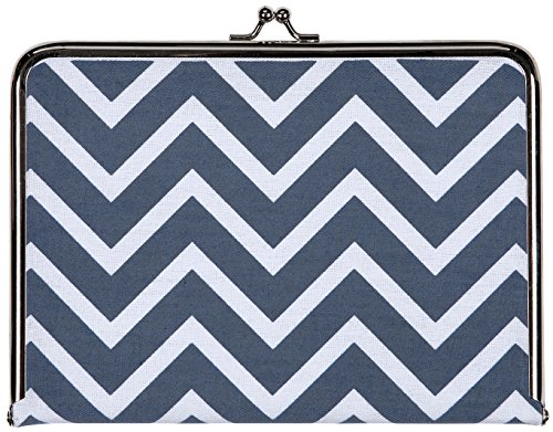 C.R. Gibson Canvas Photo Clutch, Chevron Navy - 1