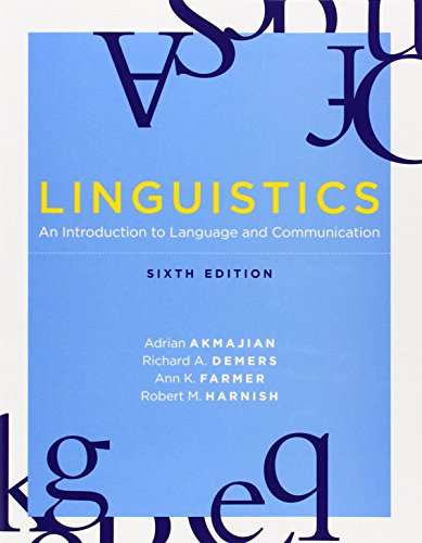 Linguistics: An Introduction to Language and...