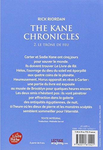 Kane Chronicles - Tome 2 - Le trône de feu (Livre de Poche Jeunesse)