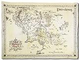 Herr der Ringe Poster Karte Von Mittelerde Pergame