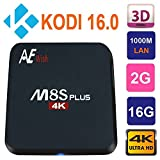 Android TV Box Kodi 16.0 Bluetooth 4.0 Fully Loaded 2G/16G Amlogic S905 Quad Core 4K 1000M Gigabit Lan 2.4G/5G Wifi Streaming Media Player