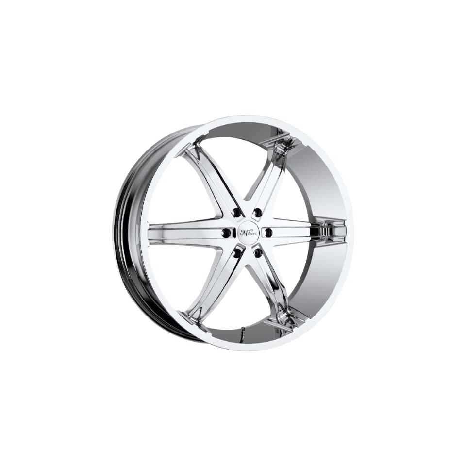 Milanni Kool Whip 6 22 Chrome Wheel / Rim 6x135 with a 24mm Offset and a 87 Hub Bore. Partnumber 446 2236C24