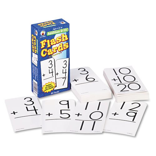 Carson-Dellosa Addition 0-12 Flash Cards CD-3928 - 1