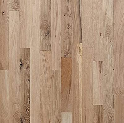 "White Oak #3 Common Unfinished Solid Wood Flooring 2 1/4"" x 3/4"" Samples at Discount Prices by Hurst Hardwoods"