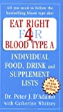 Eat Right for Blood Type A: Individual Food, Drink and Supplement lists