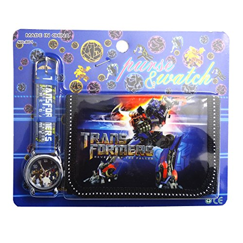 Transformers Children's Watch Wallet Set For Kids Children Boys Girls Great Christmas Gift Gifts Present - Sold...