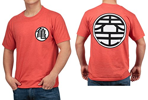 Dragon Ball Z Kame Symbol Mens Orange Heather T-shirt L