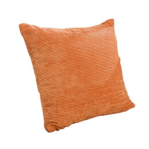 Thg Square Corduroy Pillow Cover Cushion Covers Non-Core£¨Orange£© front-1040427