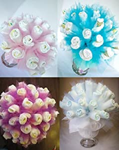 Diaper bouquet any color available baby for Pink diaper bouquet
