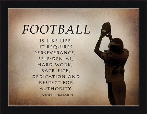 The Catch by Lori Deiter Motivational Football Quote 17.5x13.5 Framed Art Print Picture Wall Decor (Framed Motivational Pictures compare prices)