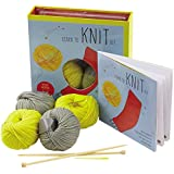 Learn to Knit Kit: Includes Needles and Yarn for Practice and for Making Your First Scarf-featuring a 32-page book with instructions and a project