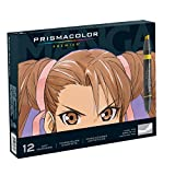 Prismacolor Premier Double-Ended Art Markers, Fine and Chisel Tip, Manga Colors, 12-Count