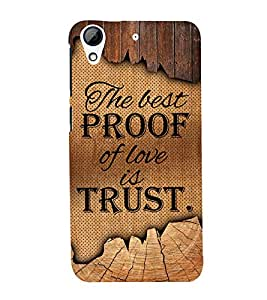 Proof Of Love Is Love Cute Fashion 3D Hard Polycarbonate Designer Back Case Cover for HTC Desire 728 Dual Sim :: HTC Desire 728G Dual Sim