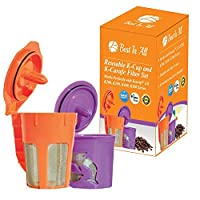 Best Ever Reusable K Cup and K Carafe for Keurig 2.0 - K200, K300, K400, K500 Series. Perfectly designed premium quality coffee filter set from Best In All