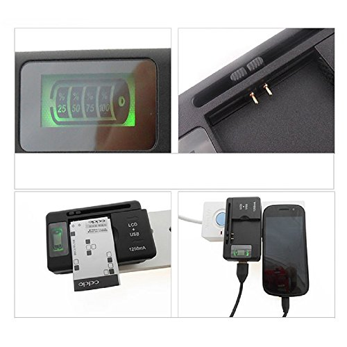 Amjimshop New Mobile Universal Battery Charger Lcd Indicator Screen For Cell Phones *Usb-Port*
