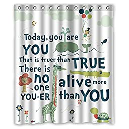 CozyBath Quotes Waterproof Polyester Fabric 60\