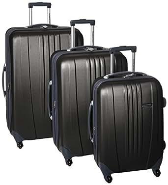 Traveler's Choice Toronto 3-Piece Hardside Spinner Luggage, Black
