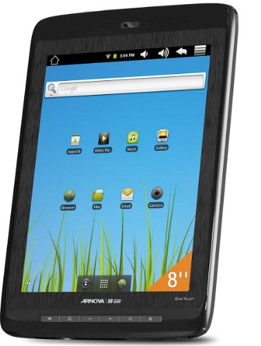Archos Arnova 8 G2 8 inch Dual Touch Tablet (ARM Cortex A8 1GHz Processor, 512MB RAM, 4GB Memory, Android 2.3 Gingerbread)