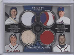 Ian Kinsler, Nolan Ryan, Dan Uggla, John Smoltz #58/99 Atlanta Braves (Baseball Card) 2013 Topps Museum Collection Primary Pieces Four Player Quad Relics #PPFQR-9