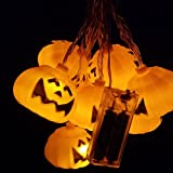 Martians 10 LED 8ft/2.5m Flashing Pumpkins Lantern LED String Lights Battery Powered for Kids Halloween Party Decoration