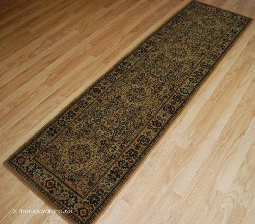 100% New Zealand Wool Arbil Kumasi Gold Runner 70x240cm (2'3''x7'9'')