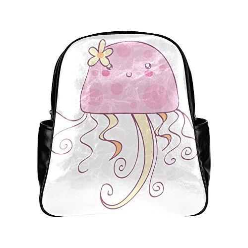 treety-girly-pink-jellyfish-black-diy-multi-pocket-backpack-bag