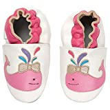 Momo Baby Soft Sole Leather Crib Bootie Shoes - 12-18 Months